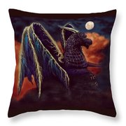 Twilight Storm Dragon Throw Pillow