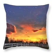 Twilight Sunset Throw Pillow