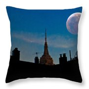 Twilight Time In The City Throw Pillow