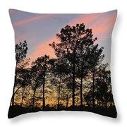 Twilight Tree Silhouettes Throw Pillow