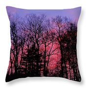 Twilight Trees Throw Pillow