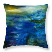 Twilight Waters Throw Pillow