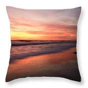 Encinitas Waves Throw Pillow