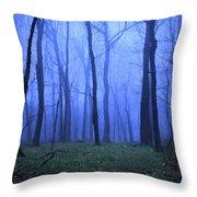 Twilight Woods Throw Pillow