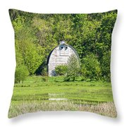 Twin Barns In Spring Throw Pillow