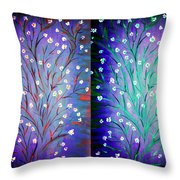 Twin Beauty-2 Throw Pillow