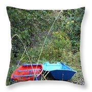 Twin Boats Bella Coola Bc Throw Pillow