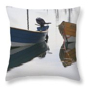 Twin Boats Throw Pillow