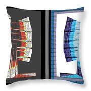Twin Buttefly Sisters One Angel Other Evil  Blue Moon Butterfly Womens Fashion Couture From Jaipur  Throw Pillow