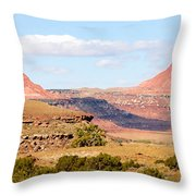Twin Buttes Throw Pillow