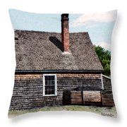 Twin Chimneys Throw Pillow