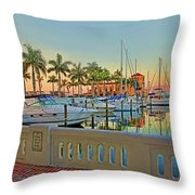 Twin Dolphin Marina Throw Pillow