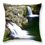 Twin Falls 3 Throw Pillow