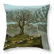 Twin Falls Kingdom Throw Pillow