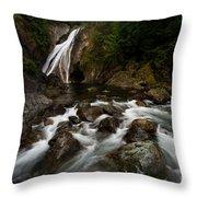 Twin Falls Landscape Throw Pillow