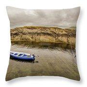 Twin Fishing Boats Throw Pillow