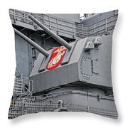 Twin Fives Throw Pillow