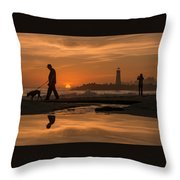 Twin Lakes Sunset Reflected Throw Pillow