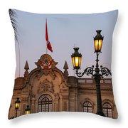 Twin Lamp Posts Throw Pillow