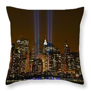 Twin Lights Throw Pillow by Wayne Gill