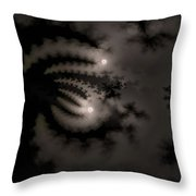 Twin Moons Throw Pillow