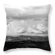 Twin Peaks Black And White Panorama Throw Pillow