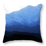 Twin Peaks Blues Throw Pillow