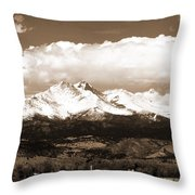 Twin Peaks In Sepia  Throw Pillow