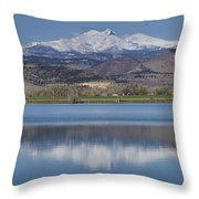 Twin Peaks Mccall Reservoir Reflection Throw Pillow by James BO  Insogna