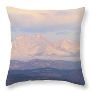 Twin Peaks Meeker And Longs Peak Panorama Color Image Throw Pillow by James BO  Insogna
