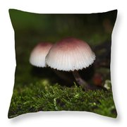 Twin Peaks - Pink And White Mushroom Duo Throw Pillow