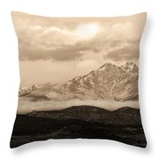 Twin Peaks Sepia Panorama Throw Pillow