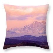 Twin Peaks Sunrise  Throw Pillow