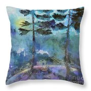 Twin Pines Throw Pillow