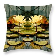 Twin Pond Lillies Throw Pillow