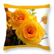 Twin Roses Throw Pillow
