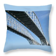 Twin Spans Throw Pillow