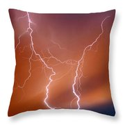 Twin Strike Throw Pillow
