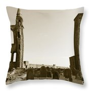 Twin Turrets And St. Rule's Tower Throw Pillow