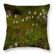 Twinflower Throw Pillow