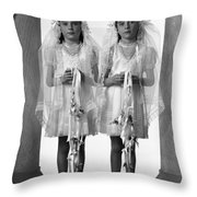Twins First Communion 2 Throw Pillow