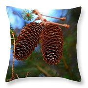 Twins Forever Throw Pillow