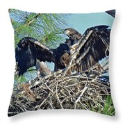 Twins Getting Ready  Throw Pillow