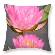 Twins In Pink Throw Pillow