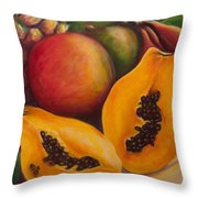 Twins Throw Pillow by Shannon Grissom
