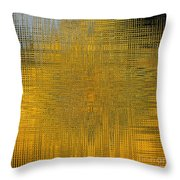 Twirl Art Yellow  Throw Pillow
