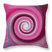 Twirl Pink  Throw Pillow