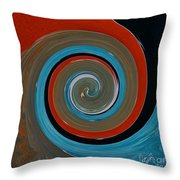 Twirl Red 01 Throw Pillow