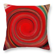 Twirl Red-0951 Throw Pillow