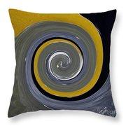 Twirl Yellow  Throw Pillow